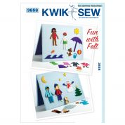 Kwik Sew Childrens Crafts Easy No Sew Pattern 3858 Fun with Felt