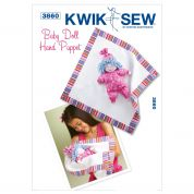 Kwik Sew Crafts Easy Sewing Pattern 3860 Baby Doll Hand Puppet & Blanket