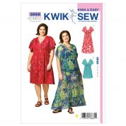 Kwik Sew Ladies Plus Size Sewing Pattern 3868 A Line Pullover Dresses