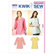 Kwik Sew Ladies Easy Sewing Pattern 3870 Tunic Tops