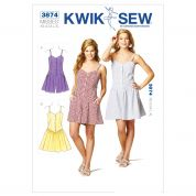 Kwik Sew Ladies Sewing Pattern 3874 Shirt Style Jumpsuit & Dress