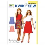 Kwik Sew Ladies Easy Learn to Sew Sewing Pattern 3877 A Line Skirts