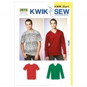 Kwik Sew Mens Easy Sewing Pattern 3878 Top & Jumper