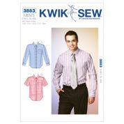 Kwik Sew Mens Sewing Pattern 3883 Short & Long Sleeve Shirts