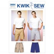 Kwik Sew Mens Sewing Pattern 3884 Shorts & Cargo Shorts