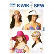 Kwik Sew Ladies Sewing Pattern 3885 Summer Hats