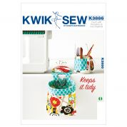 Kwik Sew Homeware Easy Sewing Pattern 3886 Pouch with Pincushion & Cup Organizer