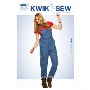 Kwik Sew Ladies Sewing Pattern 3897 Dungarees Overalls