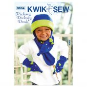 Kwik Sew Childrens Easy Sewing Pattern 3904 Hat, Scarf & Mittens