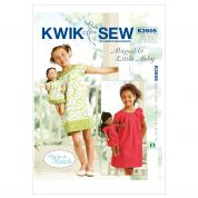 Kwik Sew Childrens & Dolls Sewing Pattern 3905 Matching Summer Dresses
