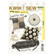 Kwik Sew Home Decor Easy Learn to Sew Sewing Pattern 3910 Metro Cushions