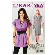 Kwik Sew Ladies Sewing Pattern 3913 City Dress, Tunic & Belt