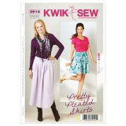 Kwik Sew Ladies Sewing Pattern 3914 Pretty Pleated Skirts
