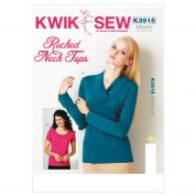 Kwik Sew Ladies Sewing Pattern 3915 Ruched Neck Tops