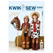 Kwik Sew Childrens Sewing Pattern 3920 Cowboy & Cowgirl Costumes