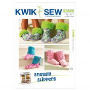 Kwik Sew Adult & Children Sewing Pattern 3926 Snuggly Slippers