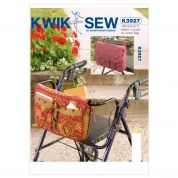 Kwik Sew Accessories Sewing Pattern 3927 Wheelchair & Walker Carryall & Carrier Bag