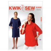 Kwik Sew Ladies Sewing Pattern 3928 Dolman Sleeve Dress & Top