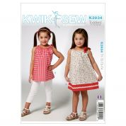 Kwik Sew Toddlers Easy Sewing Pattern 3934 Dress & Tunic