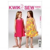 Kwik Sew Childrens Easy Sewing Pattern 3940 Girls Pretty Summer Dresses