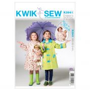 Kwik Sew Childrens & Dolls Sewing Pattern 3941 Matching Raincoats