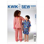Kwik Sew Childrens Easy Sewing Pattern 3945 Pyjamas