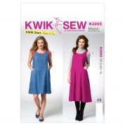 Kwik Sew Ladies Easy Sewing Pattern 3955 Dresses with Pockets