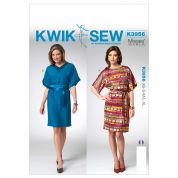 Kwik Sew Ladies Easy Sewing Pattern 3956 Loose Fitting Dresses with Belt