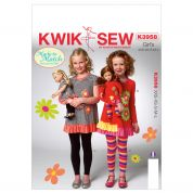 Kwik Sew Childrens Easy Sewing Pattern 3958 Girls Tops & Leggings