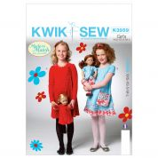 Kwik Sew Childrens Sewing Pattern 3959 Girls Fancy Dresses
