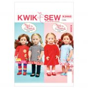 Kwik Sew Crafts Sewing Pattern 3965 Doll Clothes Summer Wardrobe