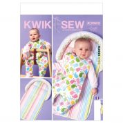 Kwik Sew Baby Easy Sewing Pattern 3969 Infants Bib & Pad