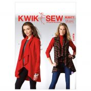 Kwik Sew Ladies Easy Sewing Pattern 3977 Waterfall Front Waistcoat & Jacket
