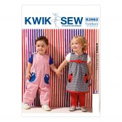 Kwik Sew Toddlers Sewing Pattern 3983 Dress, Dungarees & Pants