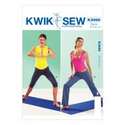 Kwik Sew Ladies Sewing Pattern 3988 Sportswear Gym Pants