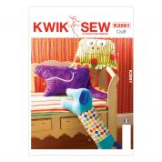 Kwik Sew Homeware Easy Sewing Pattern 3991 Animal Shape Cushions & Pillows