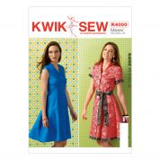 Kwik Sew Ladies Sewing Pattern 4000 Buttons Up Shirt Dresses & Belt