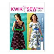 Kwik Sew Ladies Sewing Pattern 4001 Fitted Dresses & Belt