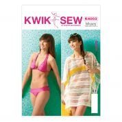 Kwik Sew Ladies Easy Sewing Pattern 4003 Bikini & Cover Up