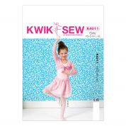 Kwik Sew Childrens Sewing Pattern 4011 Ballerina Shrug, Leotard & Skirt