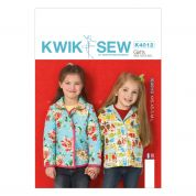Kwik Sew Childrens Sewing Pattern 4012 Girls Lined Jackets