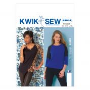 Kwik Sew Ladies Easy Sewing Pattern 4014 Raglan Sleeve Jersey Tops