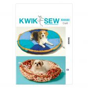 Kwik Sew Homeware Easy Sewing Pattern 4020 Pet Bed In 2 Sizes