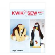 Kwik Sew Homeware Leagh Anderson Sewing Pattern 4021 Penguin & Bear