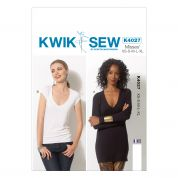 Kwik Sew Ladies Easy Sewing Pattern 4027 V Neck Jersey Tops