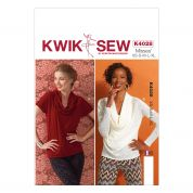 Kwik Sew Ladies Sewing Pattern 4028 Cowl Neck Jersey Tops