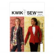 Kwik Sew Ladies Sewing Pattern 4029 Princess Seams Semi Fitted Jackets