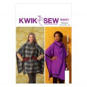 Kwik Sew Ladies Easy Sewing Pattern 4031 Wrap Capes