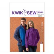 Kwik Sew Ladies & Men's Unisex Sewing Pattern 4032 Fleece Jackets