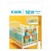 Kwik Sew Baby Sew Sweet Chic Easy Sewing Pattern 4034 Crib Cot Bumpers & Organizer